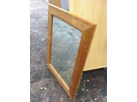 Good size Pine framed mirror in great condition
