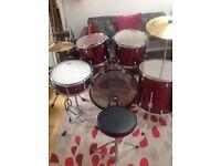 Red Pearl Target Drumkit cx200