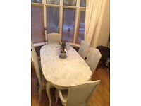 Shabby chic Beautiful table & 6 chairs