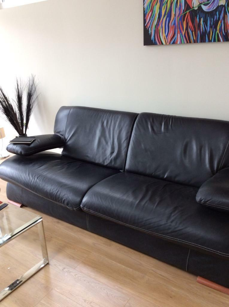 DFS black full leather sofasingle chairin Loanhead, MidlothianGumtree - Large 2/3 seater leather sofa.& single black full leather.Very good condition.From pet& smoke free home.Must be collected from loanhead Midlothian