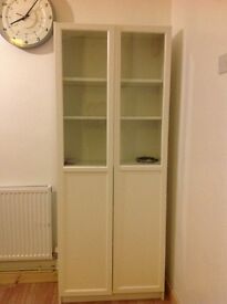 IKEA White cupboad with two glass doors