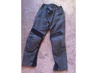 Men's leather bike trousers size 32