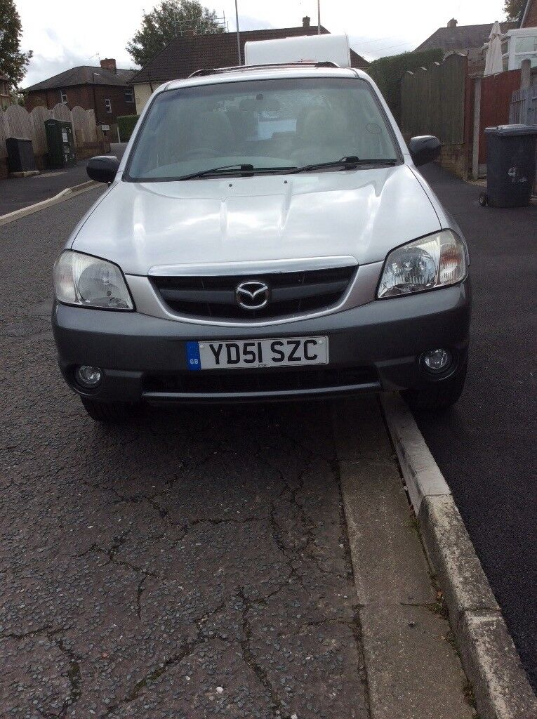 Mazda Tribute 3.0ltr V6 petrol automatic2001 MOT 5-5-2018 Silver with nice grey leather interior.