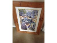 Large Wooden Picture Frame For Sale