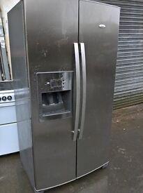 Whirlpool silver fridge freezer..Mint Free delivery