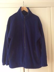 AS NEW Mens Dark Blue Full Zip Soft Fleece (XL Extra Large Size)