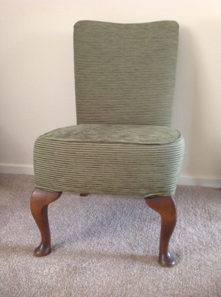 Antique Bedroom chair Victorian nursing chair Sage green newly upholstered - Antique Bedroom Chair Victorian Nursing Chair Sage Green Newly