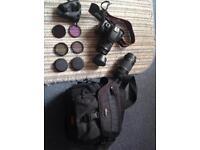 Canon EOS 550d camera + lenses + accessories + box