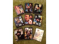 24 TV Series complete set of 8 DVD boxsets and Redemption movie