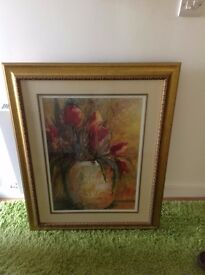 Flower Picture in Gold Effect Frame