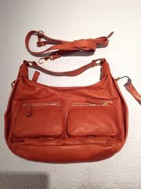 Brown/tan leather Phase Eight Hand Bag New/unused