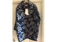 M&S Per Una Blue Quilted Coat Size M BNWT