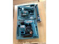 Makita Battery Drill, Jigsaw