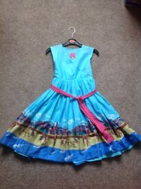 Girls Seaside Scene Dress by Joules age 8 years