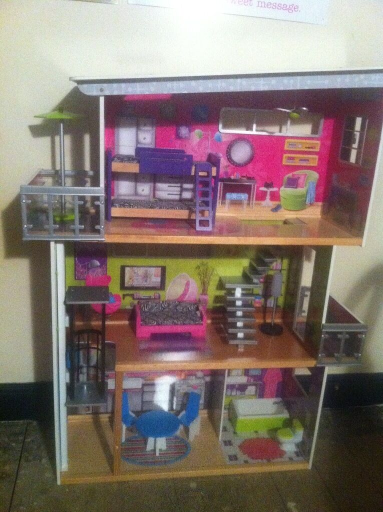Early Learning Centre Dolls House! 3 Floors Inc Furniture Great For Barbie,  Monster High