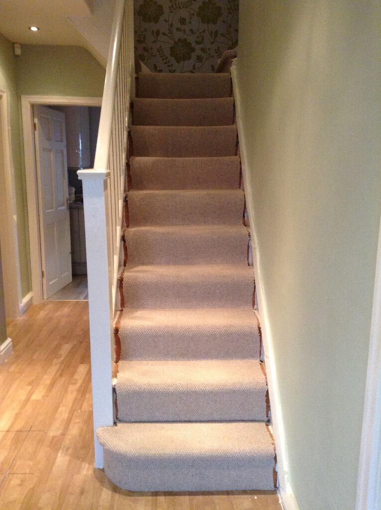 Beige Wool Carpet Stairs/Landing