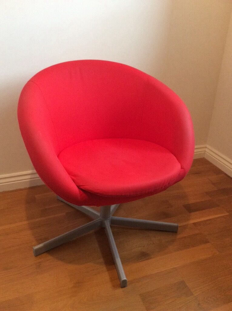 Great IKEA Red Swivel Tub Chair