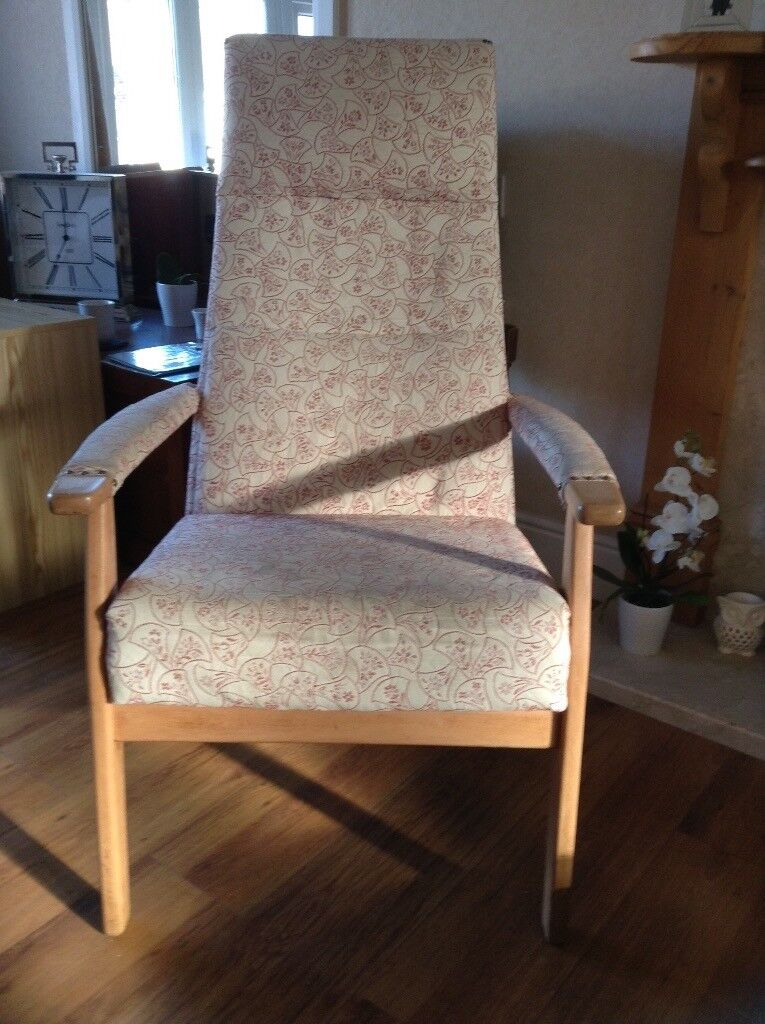 Comfy Arm Chair, Fireside, Nursing, Wingback Chair With Removable Matching  Back Support.