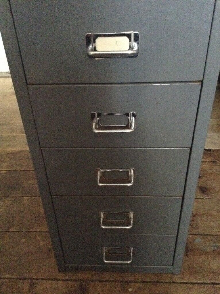 Small 5 Drawer Metal Filing Cabinet