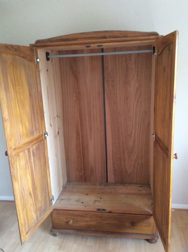 Beautiful solid wood double wardrobe with drawer  in Honiton