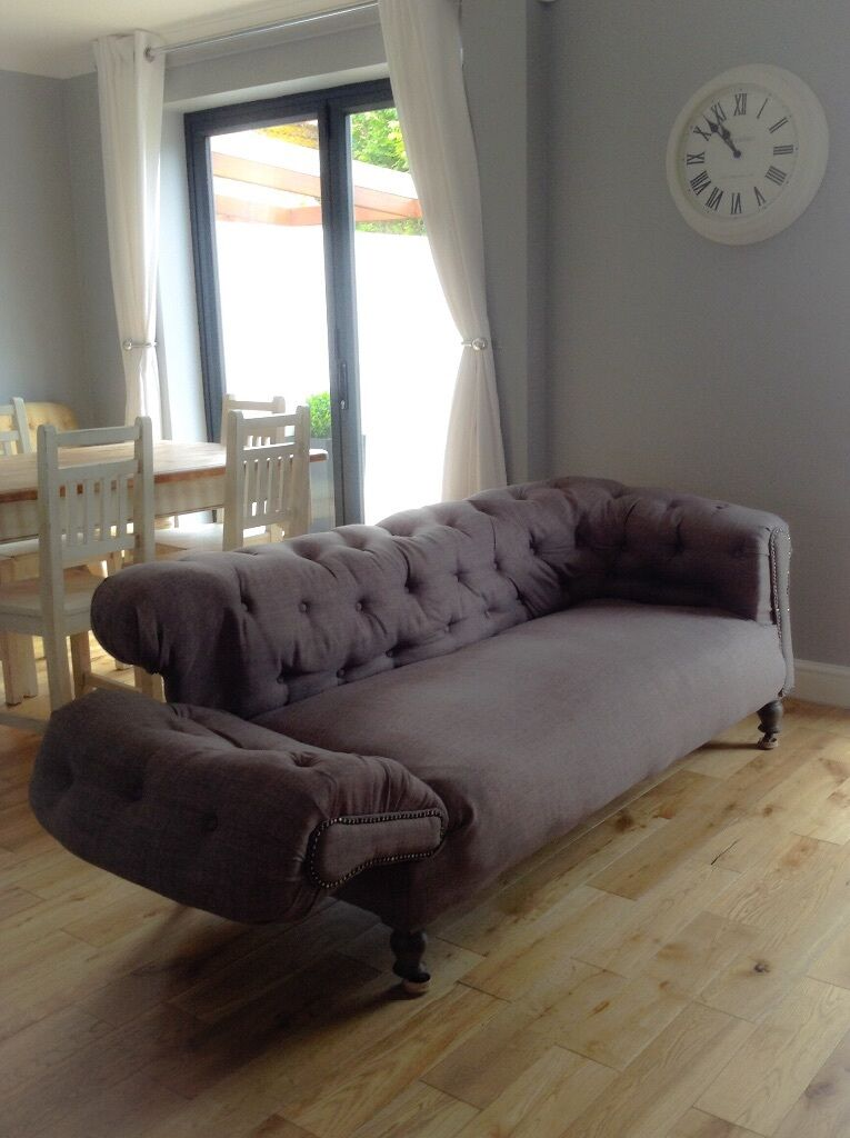 Beautiful Restored And Reupholstered Antique Victorian Chesterfield Sofa
