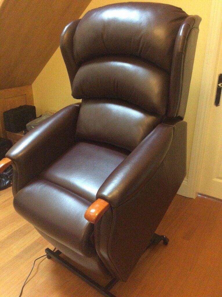 HSL Linton Riser Recliner dual motor Chair in brown Leather & HSL Linton Riser Recliner dual motor Chair in brown Leather | in ... islam-shia.org