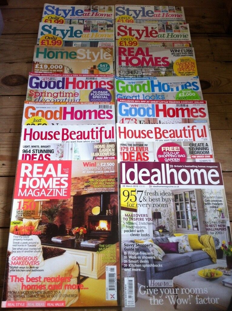 Job Lot Of Interior Design Home Style Magazines Garden Annie Sloane