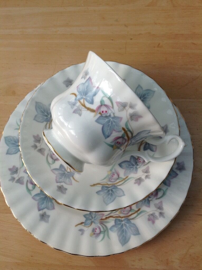 Royal Kent  Trentside  vintage fine bone china tea set. Slight seconds unused & Royal Kent