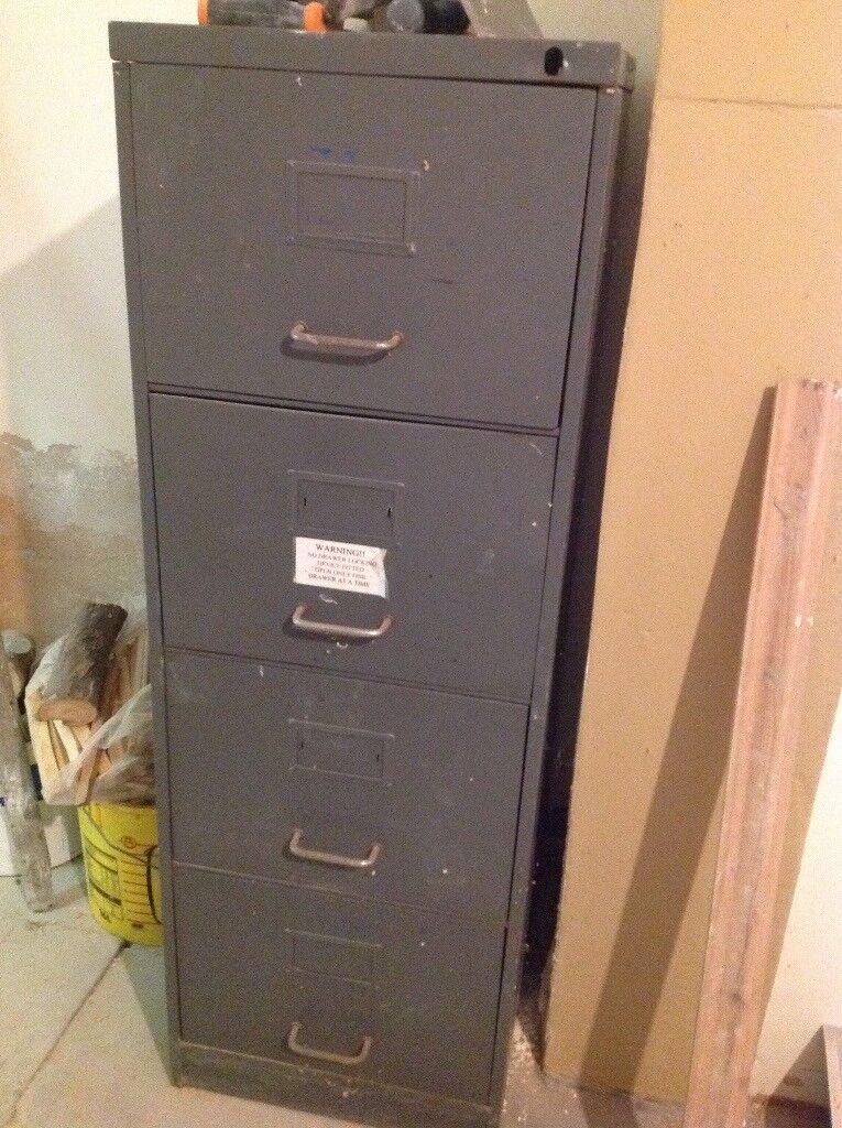 Old Metal Filing Cabinet