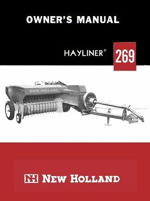New Holland 269 Baler Hayliner Operators Owners Book Guide Manual Cd