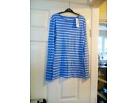 Bran new Top Size 12 Blue and White.