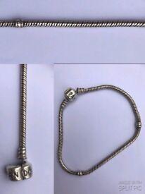 Pandora Sterling Silver Bracelet 19cm