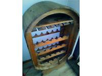 Solid Rustic Pine Wine Rack.