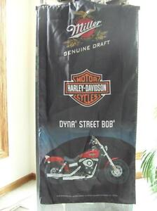 Harley- Davidson/Miller Genuine Draft   Dyna Street Bob Banner