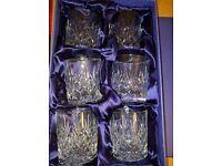 Set of 6 Edinburgh Crystal Whisky Tumblers (boxed).