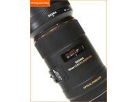 Canon Mount - Sigma 105mm f/2.8 EX DG OS HSM Macro Len/Mint Condishion beats the Canon L version