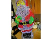 "27"" acrylic Santa for indoors/outdoors"