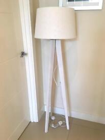 White Tall Tripod Lamp