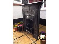 Original Cast Iron Victorian Fireplace
