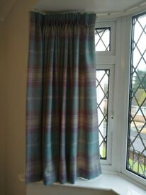Next pinch pleat top curtains 130drop x 300cm width as new