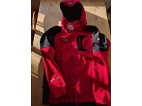 NEW: Fleece WindStopper hoodie red jacket. The North Face.