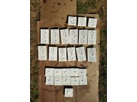 Job lot of electric sockets and switches