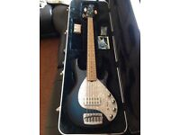 Musicman Stingray 5 H Bass Guitar Pacific Blue Burst with Matching Headstock