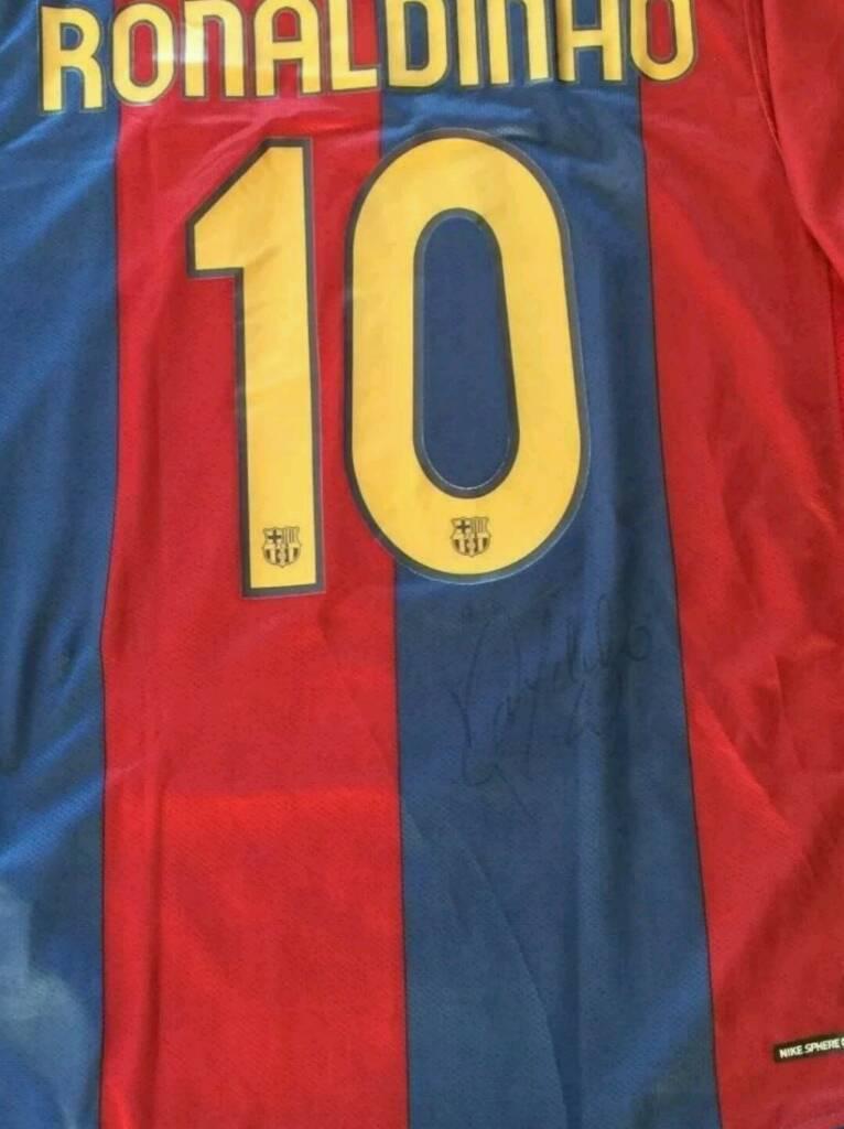 Ronaldinho signed Barcelona shirt