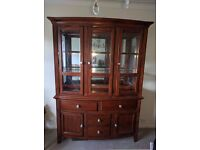 Very high quality solid wood wall unit / display cabinet / sideboard