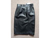 Mark & Spencer leather skirt size 12 - Brand New