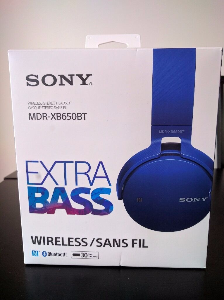 Sony Extra Bass Wireless Stereo Headsetin LondonGumtree - Sony Extra Bass Wireless Stereo Headset (original packaging). These headphones provide an acoustically tight seal for superior sound isolation, deep bass sound, and tight bass response. Comfortable head cushion Swivels for flat and easy portability...