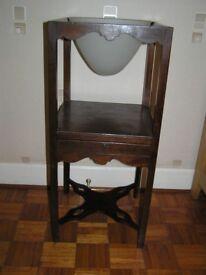 Antique mahogany wash stand