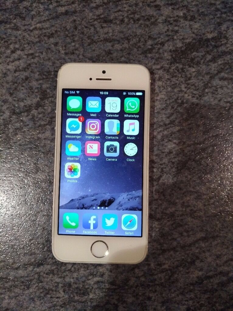 iPhone 5s White 32gbin Burton on Trent, StaffordshireGumtree - iPhone 5s White 32gb memory Believe it to be unlocked Full working order, absolutely no problems since Ive had it (17 months) No scratches on screen or back Slight marks on top right corner hardly noticeable No box but comes with charger if wanted...