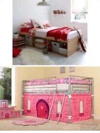 Single metal mid sleeper & single cabin bed